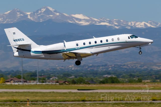 Cessna Citation Sovereign (N68EU) - N68EU just off KFNL.