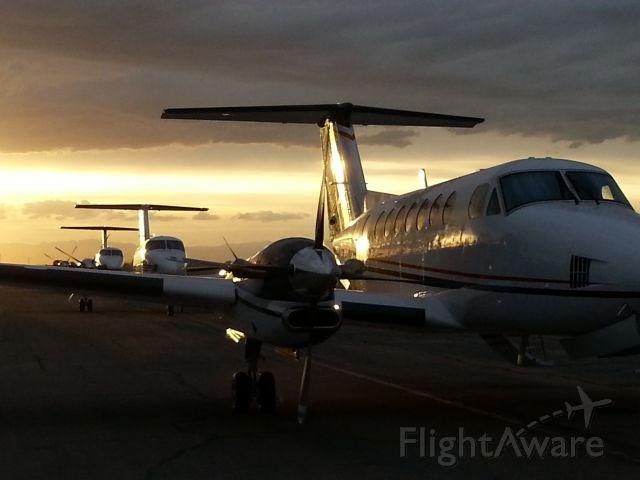 Beechcraft Super King Air 350 — - 3 B350s at sunset KCXL