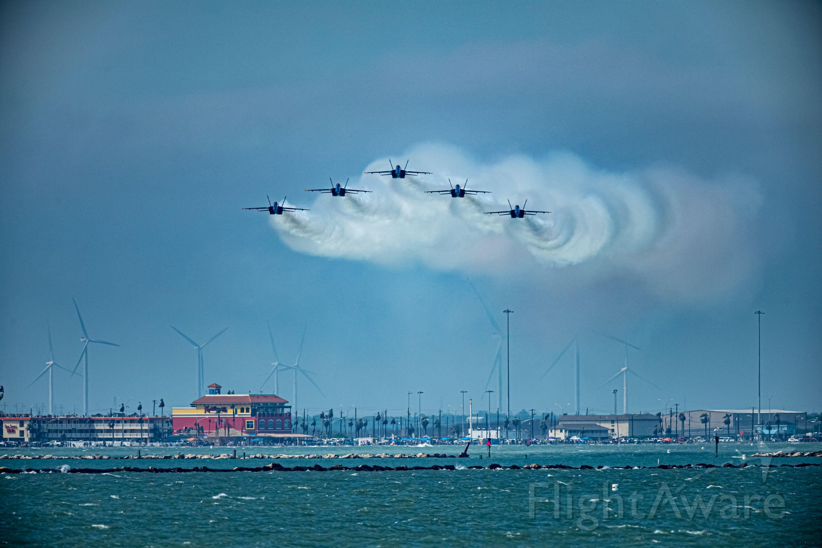 McDonnell Douglas FA-18 Hornet — - air show over CC BAY