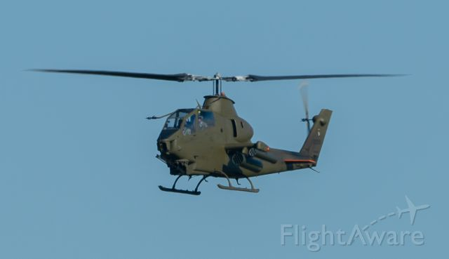 N22599 — - A restored AH-1 Cobra approaches KEFD from the east on 11/17/2020