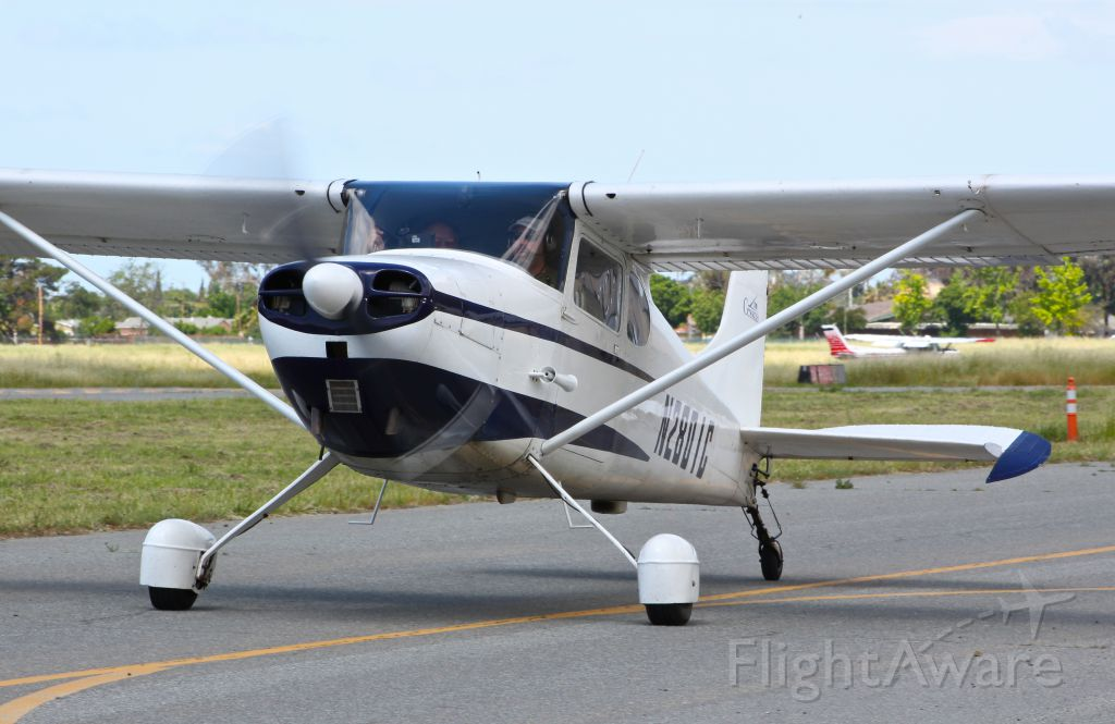 Cessna 170 (N2801C) - Classic 1954 Cessna 170 taxing out for departure at Reid Hillview Airport, San Jose, CA.