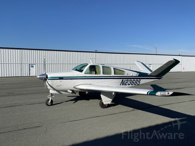 Beechcraft 35 Bonanza (N23685) - Let's go someplace - like MAINE