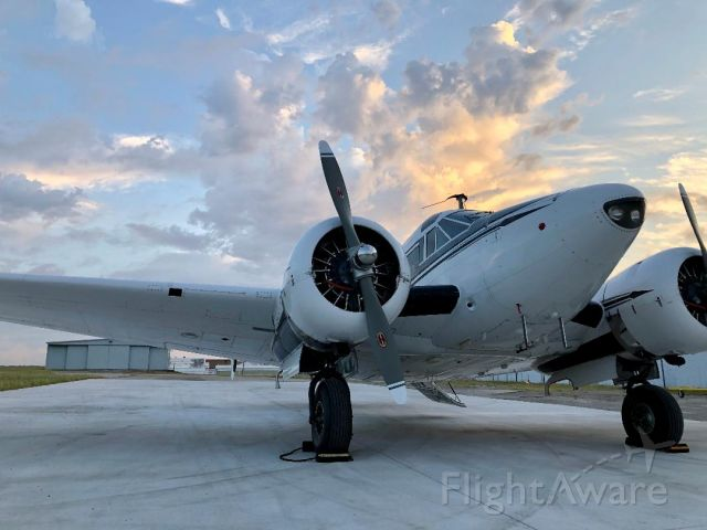 Beechcraft 18 (N7BS) - Dawn patrol, Saturday May 2, 2020