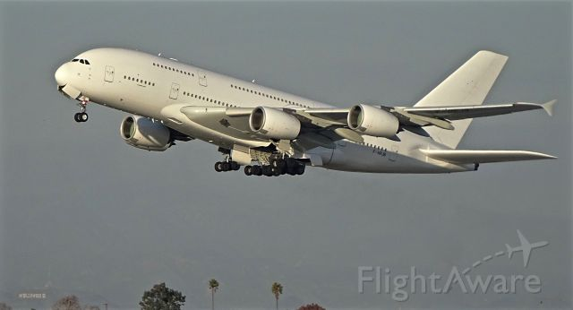 Airbus A380-800 (F-HPJB) - Last flight to LAX before the return to the Lessor