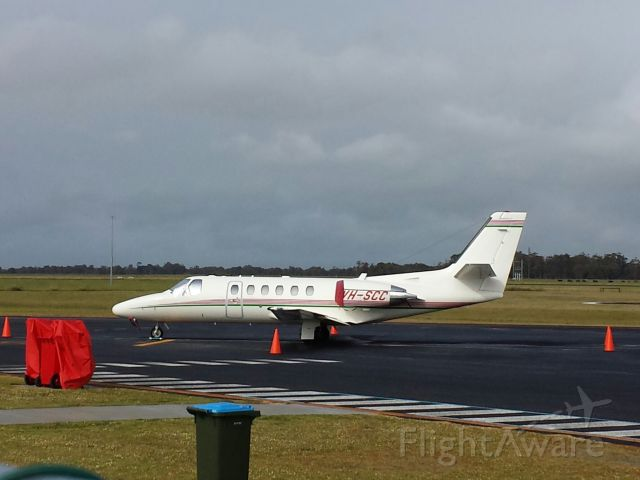 Cessna Citation II (VH-SCC) - Parked up at Busselton Regional Airport 18/10/2013