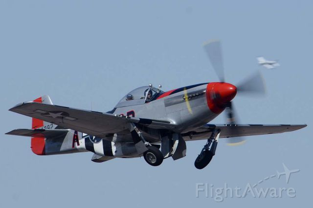 North American P-51 Mustang (SAI44727) - Commemorative Air Force North American P-51D Mustang NL44727 Man-O'-War departs from Deer Valley, Arizona for MCAS Yuma on March 7, 2013.