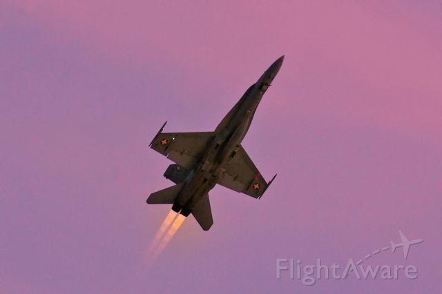 McDonnell Douglas FA-18 Hornet (J5019) - Takeoff in the last light of the day for an test flight