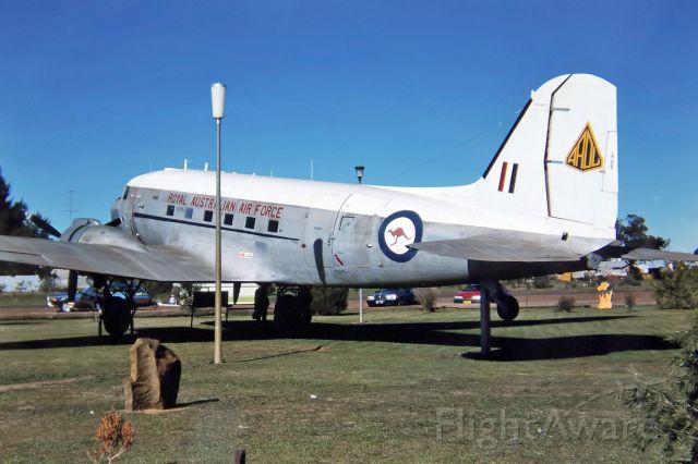 Cessna Skyhawk (N223) - AUSTRALIA - AIR FORCE - DOUGLAS C-47A DAKOTA (DC-3) - REG N2-23 (CN 11973) - WEST WYALONG NSW. AUSTRALIA - YWWL 26/6/1988 35MM SLIDE CONVERSION USING A LIGHTBOX AND A NIKON L810 DIGITAL CAMERA IN THE MACRO MODE.