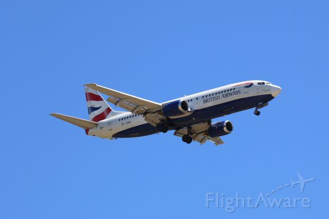 BOEING 737-400 (ZS-OAR) - On Finals for RWY 08