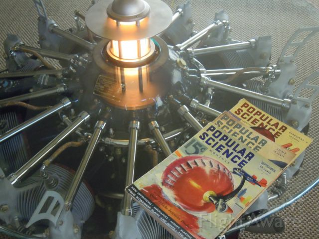 — — - Radial Engine Coffee table by Gary Gobel
