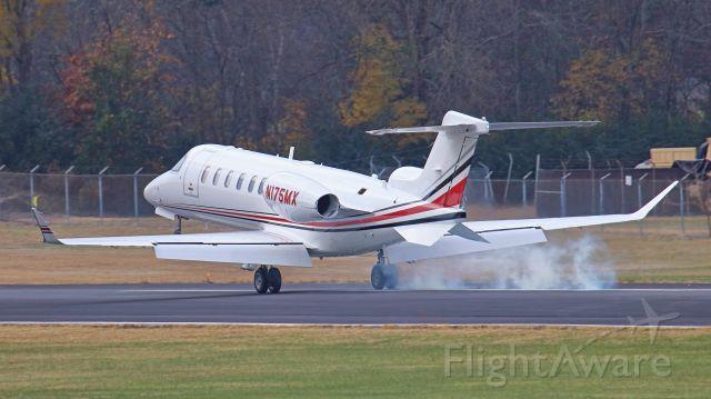 Learjet 45 (N175MX) - November 28, 2018. Lebanon, TN -- This Leerjet 45 just landed on runway 19.