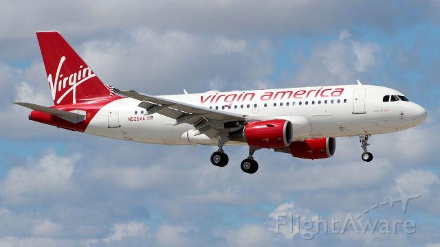Airbus A319 (N525VA) - 06.10.2013 Landing at Fort Lauderdale International