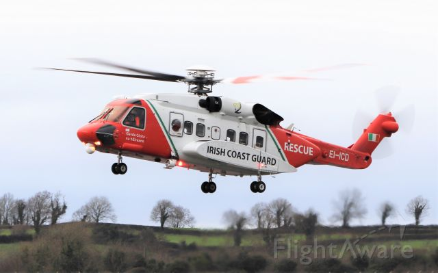 EI-ICD — - Irish Coast Guard S-92a EI-ICD at Shannon 17/11/20.
