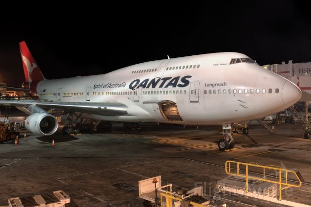 Boeing 747-400 (VH-OJT) - 27th September, 2017