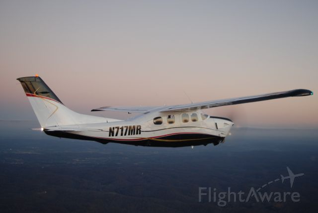 Cessna P210 Pressurized Centurion (N717MR) - P210, air-to-air photo by Sam Swift, Husky Aerials, LLC