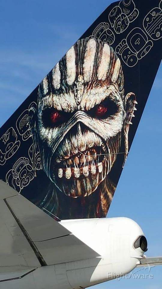 """Boeing 747-400 (TF-AAK) - Ed Force One at KLAS for Iron Maidens """"Book of Souls World Tour 2016.""""br /Callsign: Alpha Bravo Delta Six Six Six."""
