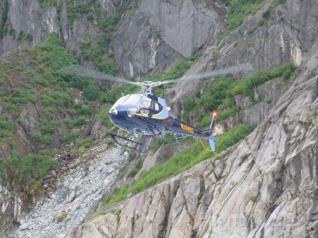 N394NS — - Landing on Mendenhall Glacier