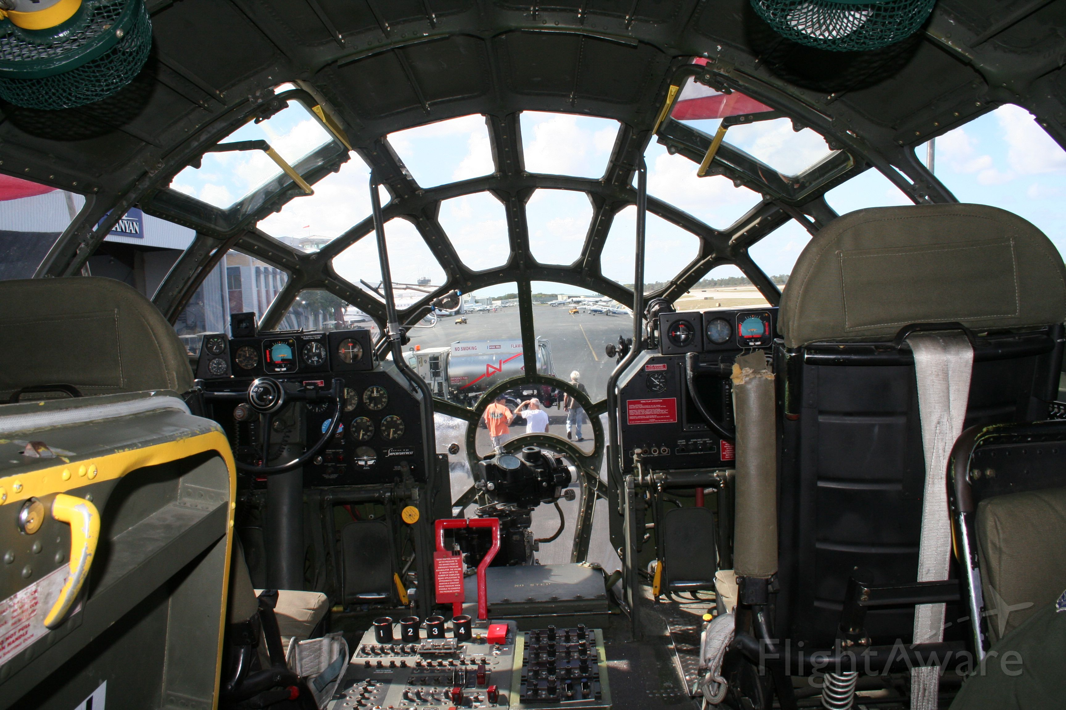 """Boeing B-29 Superfortress (NX529B) - Check out our aviation videos with 100% authentic and non-leveled sound! <a rel=""""nofollow"""" href=""""http://youtube.com/ilikerio"""">https://youtube.com/ilikerio</a><br /><br />""""FIFI""""s cockpit."""