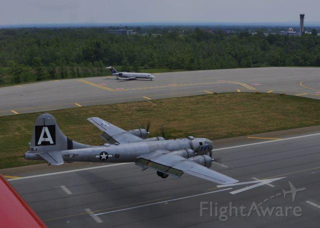 Boeing B-29 Superfortress (N529B) - Fifi at the threshold BUF rwy23