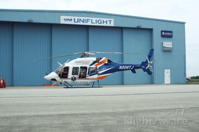 Bell 429 GlobalRanger (N506TJ) - Mercy Flights newest bird on the ramp at Rostraver.