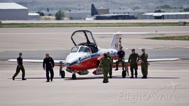 """Canadair CL-41 Tutor (11-4145) - Canadair CT-114 Tutor assigned to the 431 Air Demonstration Squadron """"Snowbirds"""""""