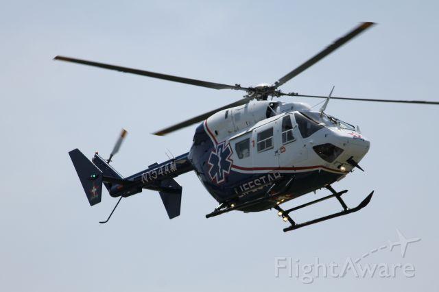 KAWASAKI EC-145 (N154AM) - Loyola Lifestar Eurocopter landing at 1C5.