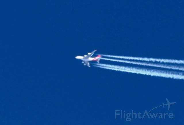 Airbus A380-800 (VH-OQK) - 18/11/2015 - 14:22 over Brussels (BOOM) flight QF10 38000 Ft  487 Kts<br />Construct number MSN 031