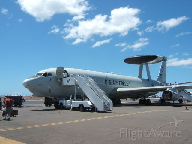 — — - Boeing E-3 with AWACS at Wings Over The Pacific Air Show in Honolulu.