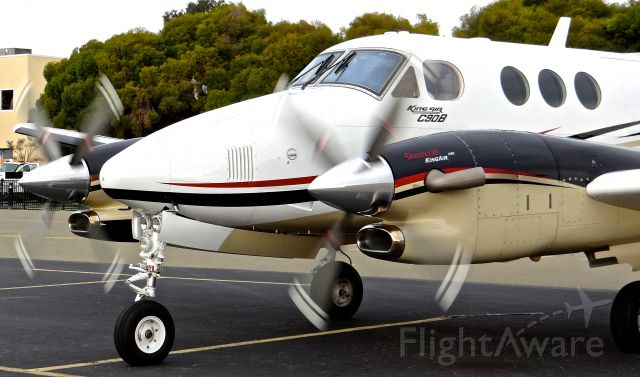 Beechcraft King Air 90 (N8096U) - Getting ready to taxi out for a charter to KSAC.