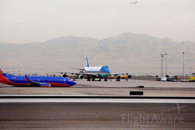 Boeing 747-200 (N29000) - Air Force 1 sits at McCarran in LAs Vegas 2010