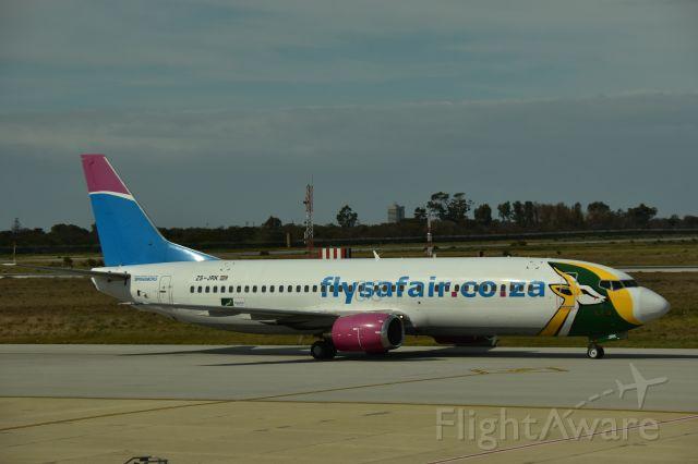 BOEING 737-400 (ZS-JRK) - Springboks Livery