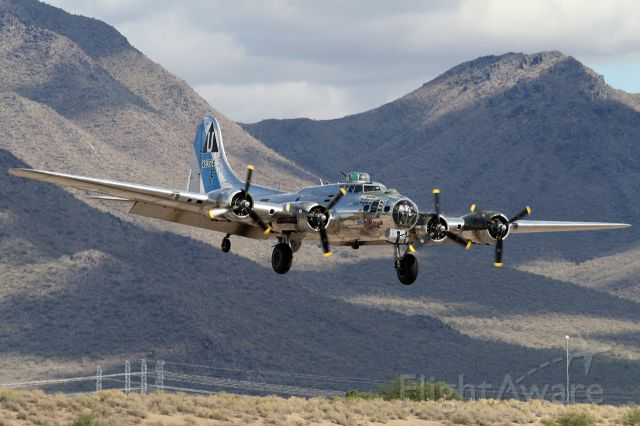 """Boeing B-17 Flying Fortress (N9323Z) - Boeing B-17G """"Sentimental Journey"""" - Scottsdale Air Fair - November 5, 2011 - KSDL"""