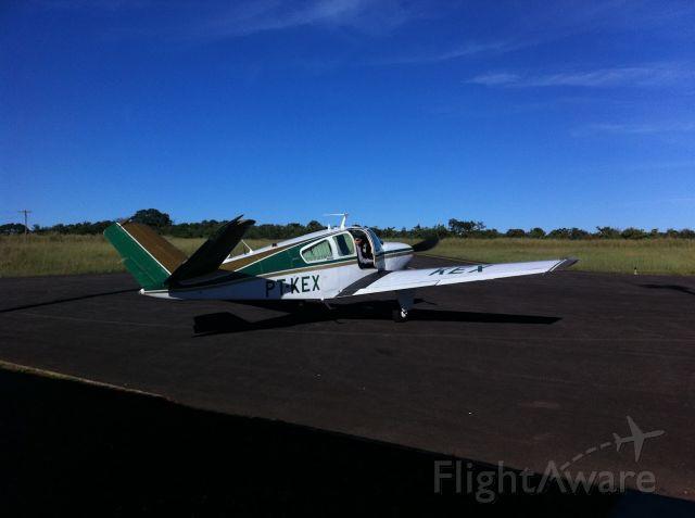 Beechcraft 35 Bonanza (PT-KEX) - The beautyfull Guilherme Prata´s PT-KEX at Niquelandia GO <br />(in memorian)