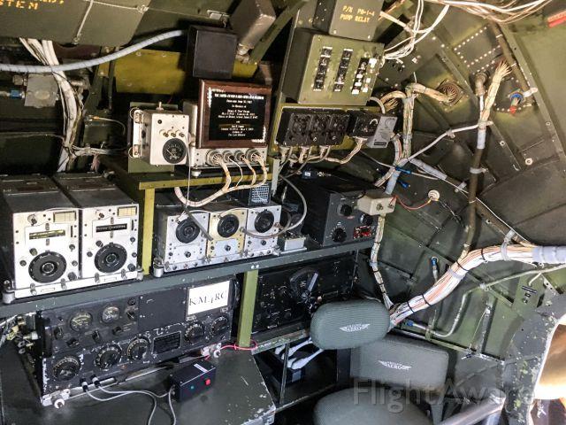 NX529B — - B-29 Fifi visits Charleston, SC - Radio operator table