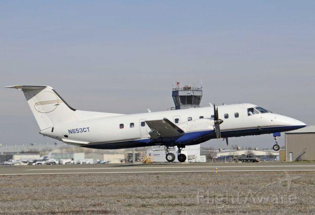 Embraer EMB-120 Brasilia (N653CT) - Departing runway one-two, Merced Regional Airport