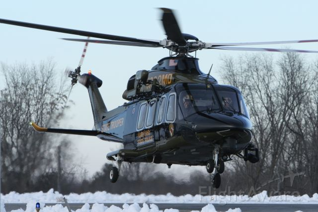 BELL-AGUSTA AB-139 (N382MD) - February 4, 2021 - landed Frederick in the evening