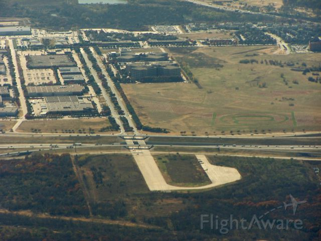 — — - What's left of runway 17 at KGSW, Greater Southwest Regional Airport in Ft Worth. The only reason this part remains is because it is located on KDFW property.