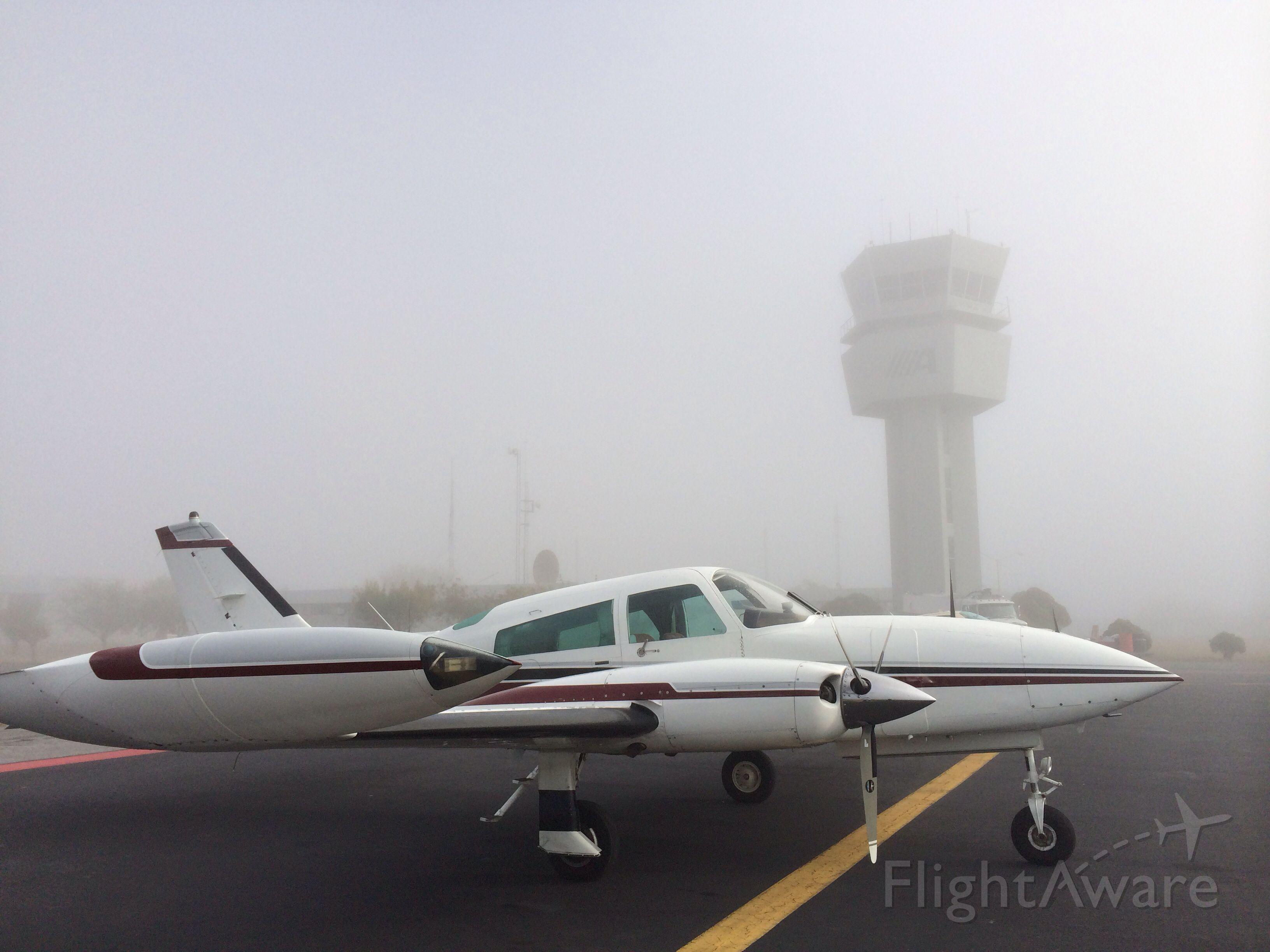 Cessna 310 (N400DP) - Fogged in in Ciudad Victoria, Tamaulipas, Mexico