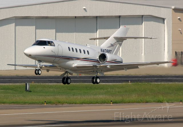 Raytheon Hawker 800 (N408RT) - Troy Aikmans plane departs Dallas for Denver where Aikman would be calling a game for Fox.
