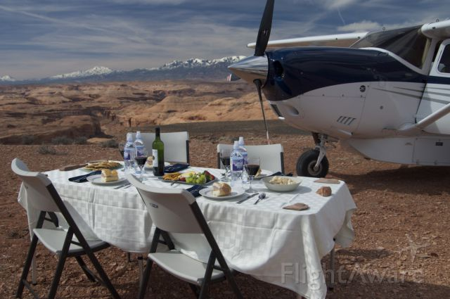 Cessna Skylane (N65309) - Angel Point, Utah, ready for lunch!  How remote can you get??