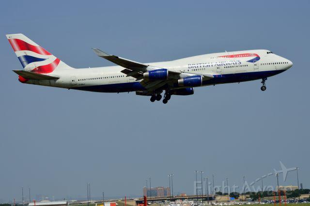 Boeing 747-400 (G-BNLF) - British Airways - B747-400 - G-BNLF - Arriving KDFW 06/26/2013