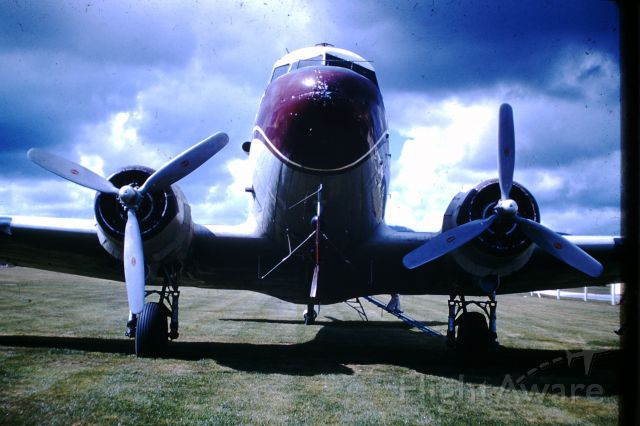 Douglas DC-3 (N9032H) - Nose view of N9032H, circa 1960