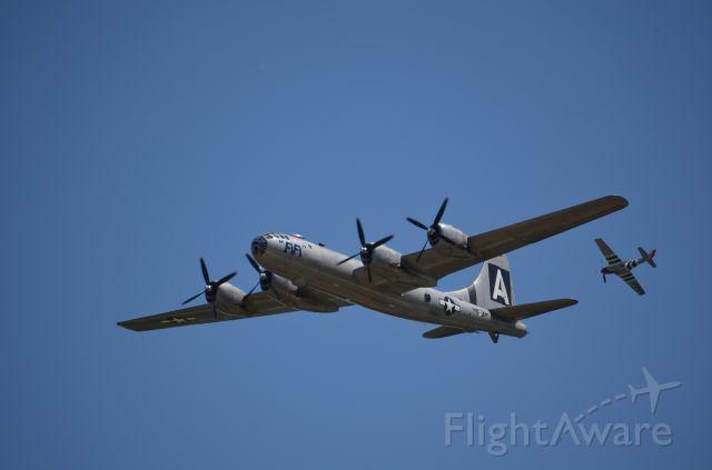 Boeing B-29 Superfortress (NX529B) - EAA 2011 B-29 Fifi and P-51 escort.