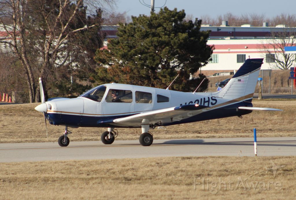 Piper Cherokee (N61IHS) - My Son's SOLO flight on March 17th 2020. Thanks to Jaime, his CFI for getting him here.