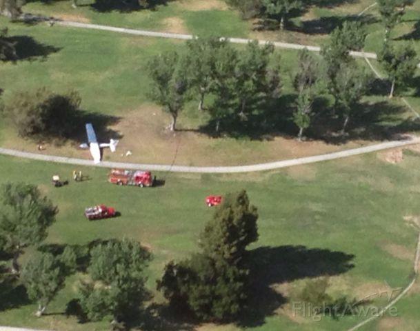 Cessna Skyhawk (UNK) - Emergency landing on westlake,Ca. golf course after midair collision