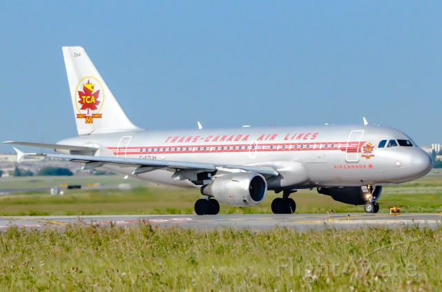 Airbus A319 (C-FZUH) - Here is a Air Canada A319 in the TCA Livery.
