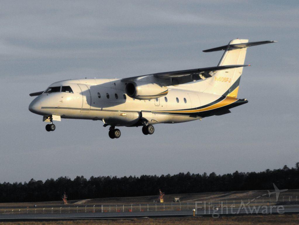 Fairchild Dornier 328JET (N406FJ) - Ultimate 6 just prior to touchdown on RWY 36