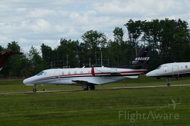 Cessna Citation Excel/XLS (N900KD) - Stopped in at KMPO. Pocono 400 was running.