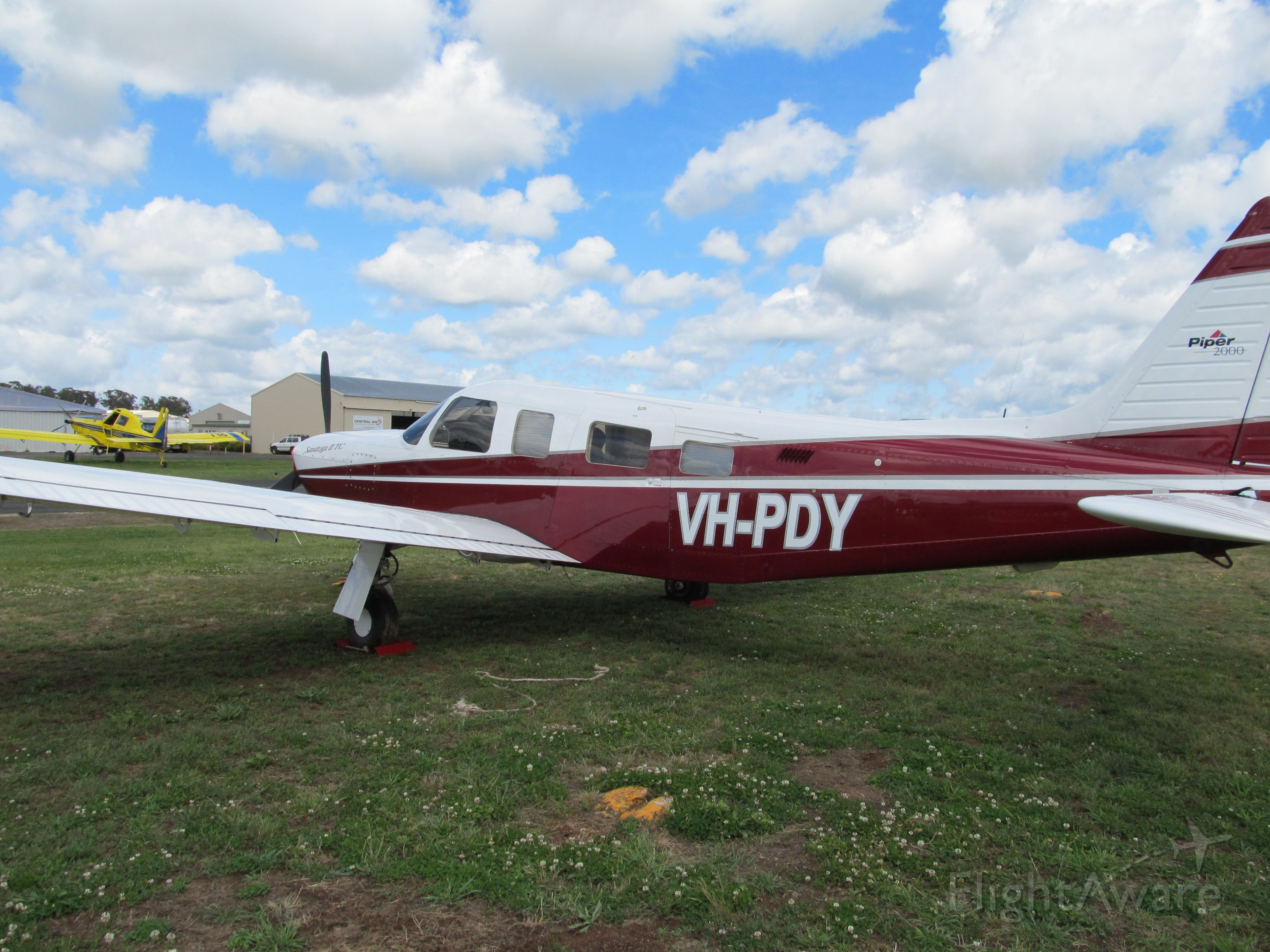 Piper Saratoga (VH-PDY) - Parked at Orange.