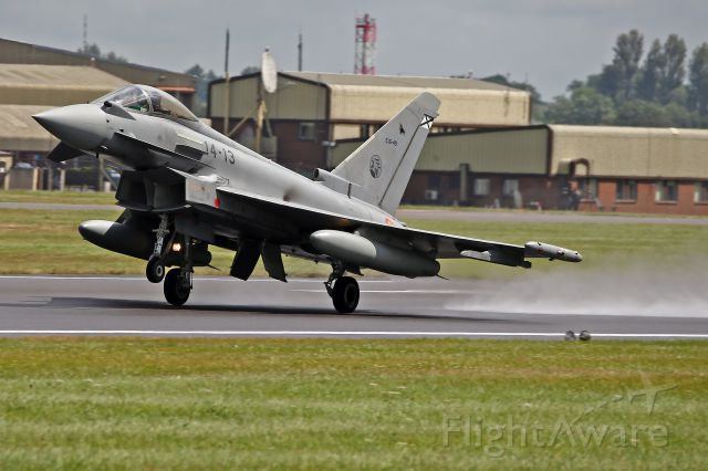 — — - Typhoon departing RAF Fairford